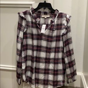 Plaid blouse NWT - 30% off price in store